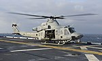 UH-1Y of VMM-263 on USS Bataan (LHD-5) in March 2014.JPG