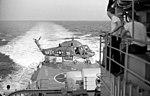 UH-2B of HU-1 landing on USS Galveston (CLG-3) in 1965.JPG