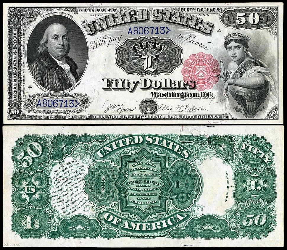 US-$50-LT-1880-Fr.164