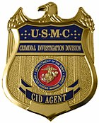 Badge design of the United States Marine Corps Criminal Investigation Division