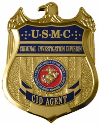 Badges of the United States Marine Corps - Image: USMC CID badge