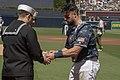 USS Bonhomme Richard (LHD 6) Sailors Visit San Diego Padres MLB Team (46800220414).jpg