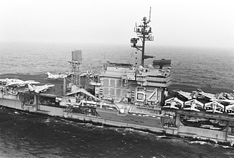 Kitty Hawk-class aircraft carrier - Image: USS Constellation (CV 64) starboard amidships