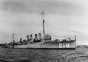 USS EDSALL (DD-219)