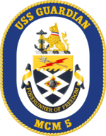 USS Guardiano MCM-5 Crest.png