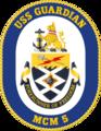 USS Guardian MCM-5 Crest.png