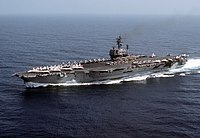USS John F. Kennedy (CV-67) underway in 1982.JPEG