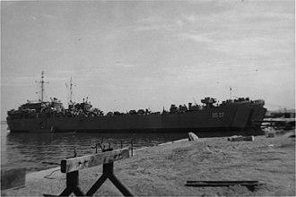 USS LST-27 - Image: USS LST 27 England June 1944