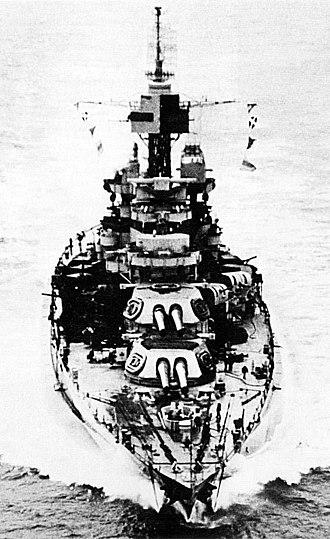 Colorado-class battleship - USS Maryland in March 1944
