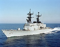 USS Oldendorf (DD-972) port bow view.jpg