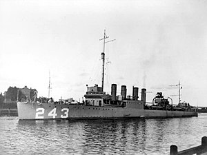 USS Sands (DD-243) at Danzig in 1921