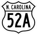 US 52A North Carolina 1950.svg