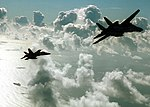 US Navy 020426-N-1407C-006 F-A-18 and F-14 assigned to CVW-17 return to ship.jpg