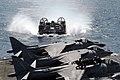 US Navy 030313-N-9802B-002 A Landing Craft Air Cushion (LCAC) assigned to Assault Craft Unit Five (ACU-5) enters the well deck of the amphibious assault ship USS Essex (LHD 2).jpg