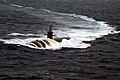 US Navy 040712-N-7748K-045 The Los Angeles-class submarine USS Albuquerque (SSN 706) surfaces in the Atlantic Ocean while participating in Majestic Eagle 2004.jpg