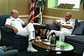 US Navy 040721-N-2383B-127 Adm. Vern Clark, Chief of Naval Operations (CNO) meets with Admiral Shahid Karimullah, Chief of Naval Staff, Pakistan Navy.jpg
