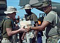 US Navy 050109-N-4383M-023 U.S. Marines assigned to the 15th Marine Expeditionary Unit (MEU), help load medical relief supplies onto a truck.jpg