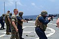 US Navy 060512-N-4124C-054 Marines assigned to the 31st Marine Expeditionary Unit (MEU) give marksmanship instruction to amphibious transport dock ship USS Juneau (LPD 10) Sailors.jpg