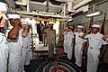 US Navy 070919-N-8704K-004 Brig. Gen. Edmund Dillon, chief of defense staff for Trinidad and Tobago Defense Force, is saluted by sideboys aboard Military Sealift Command hospital ship USNS Comfort (T-AH 20).jpg