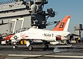 US Navy 100308-N-7908T-375 A T-45B Goshawk training aircraft assigned to Training Wing (TRAWING) 2 lands aboard the aircraft carrier USS George H.W. Bush (CVN 77).jpg
