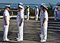 US Navy 101216-N-6843P-044 Command Master Chief J.D. McKinney inspects chief and senior chief petty officers during a command inspection at Naval S.jpg