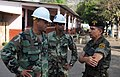 US Navy 110124-N-7589W-140 Sailors speak with Guatemalan army civil affairs commander Col. Cesar Ruiz about construction plans for a Southeast Asia.jpg