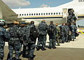 US Navy 110404-N-VA590-105 Sailors board a McDonnell Douglas C-9 Skytrain o return to Naval Air Facility (NAF) Atsugi.jpg