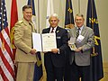 US Navy 111029-N-ZZ999-001 Vice Chief of Naval Operations (VCNO) Adm. Mark Ferguson presents the Distinguished Public Service Award to Dan Branch.jpg