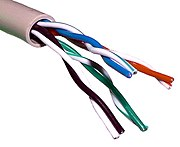 Unshielded twisted pair cable.