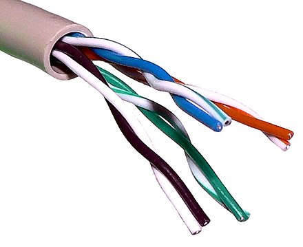 Unshielded twisted pair cable with different twist rates UTP cable.jpg