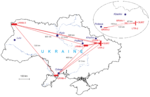 UTR-2, GURT, and URAN arrays on the map of Ukraine.png