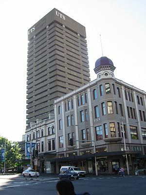 Arthur Anderson (architect) - The Bon Marche store on Broadway, Sydney (UTS Tower in background)