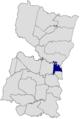 Ubicación de Ciudad del Este en el departamento de Alto Paraná.png