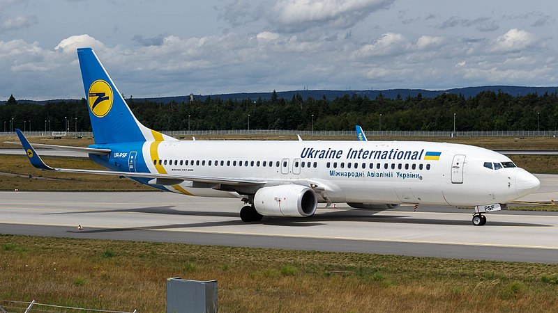U.S. intelligence officials reportedly believe Iranian forces shot the plane down tjdarmstadt, Ukraine International Airlines Boeing 737-800 (UR-PSF) at Frankfurt Airport (2), CC BY 2.0