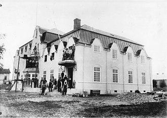 Scharinska villan - Scharinska villan during construction in 1905.