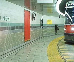 Toronto streetcar system loops - Streetcar underground on the Union Station Loop