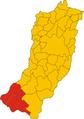 Unione dei comuni dell'Alto Appennino Reggiano-mappa comuni.png