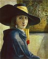 Unknown imitator of Vermeer - Young Woman with a Blue Hat, Private collection of Countess Magrit BarthanyCastagnola.jpg