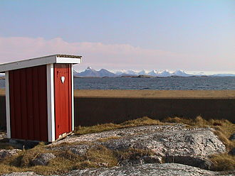 Toilet - Pit latrines are still in use in rural areas of wealthy countries (Herøy, Norway)