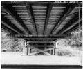 VIEW OF FLOOR MEMBERS FROM BELOW - McGilvray Road Bridge No. 3, Van Loon Wildlife Area, La Crosse, La Crosse County, WI HAER WIS,32-LACR.V,1-B-7.tif
