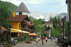 English: Street view - Vail, Colorado, USA.