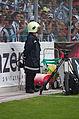 Valais Cup 2013 - OM-FC Porto 13-07-2013 - Pompier de stade.jpg