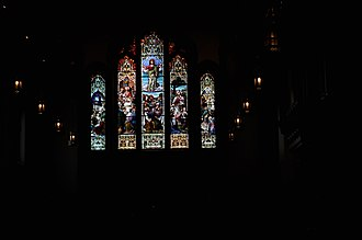 Christ Church Cathedral (Vancouver) - Image: Vancouver Christ Church Cathedral stained glass 01