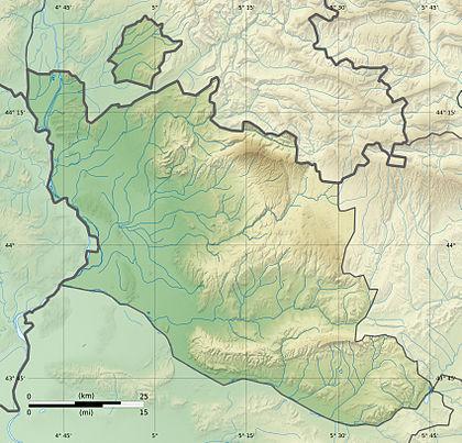 Voir sur la carte topographique deVaucluse