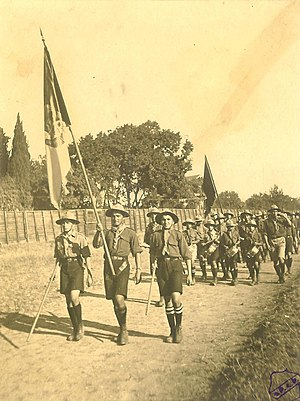Homenetmen - First procession of Homenetmen Scouts in Constantinople (1918)