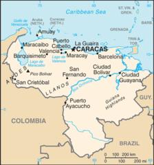 Mapa Wenezueli