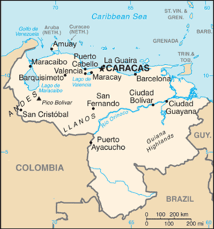 Geography of Venezuela - Map of Venezuela