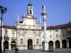 Piazza dell'Annunziata and the parish church, ...