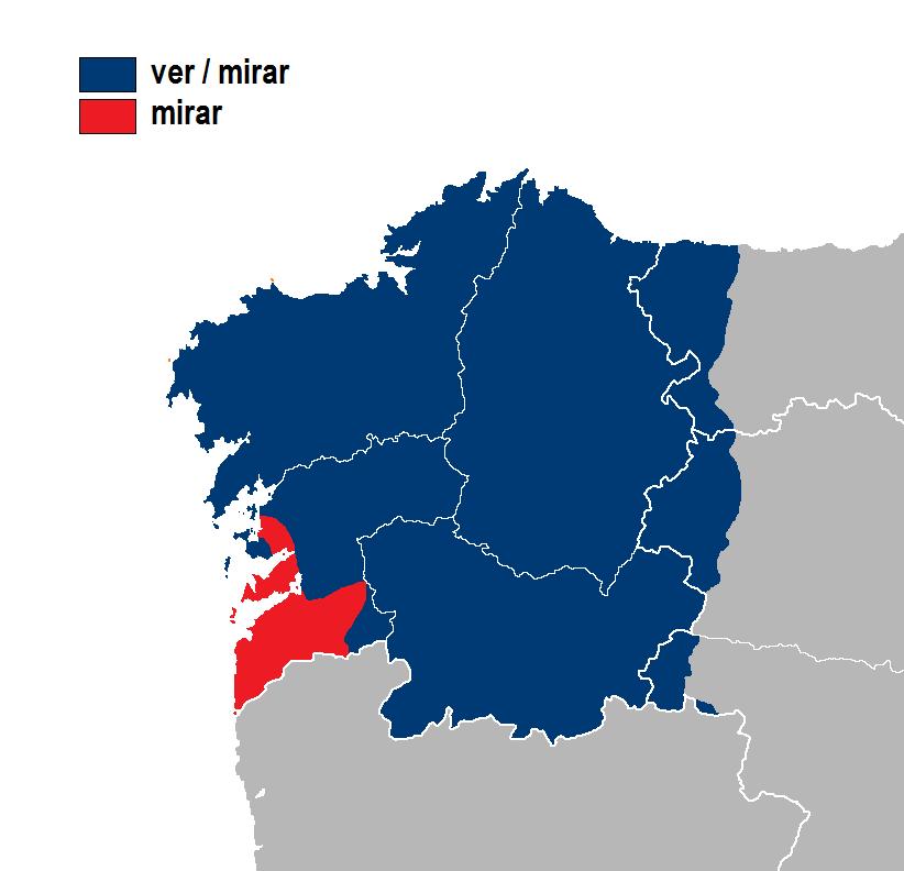 Ver-mirar mirar idioma gallego