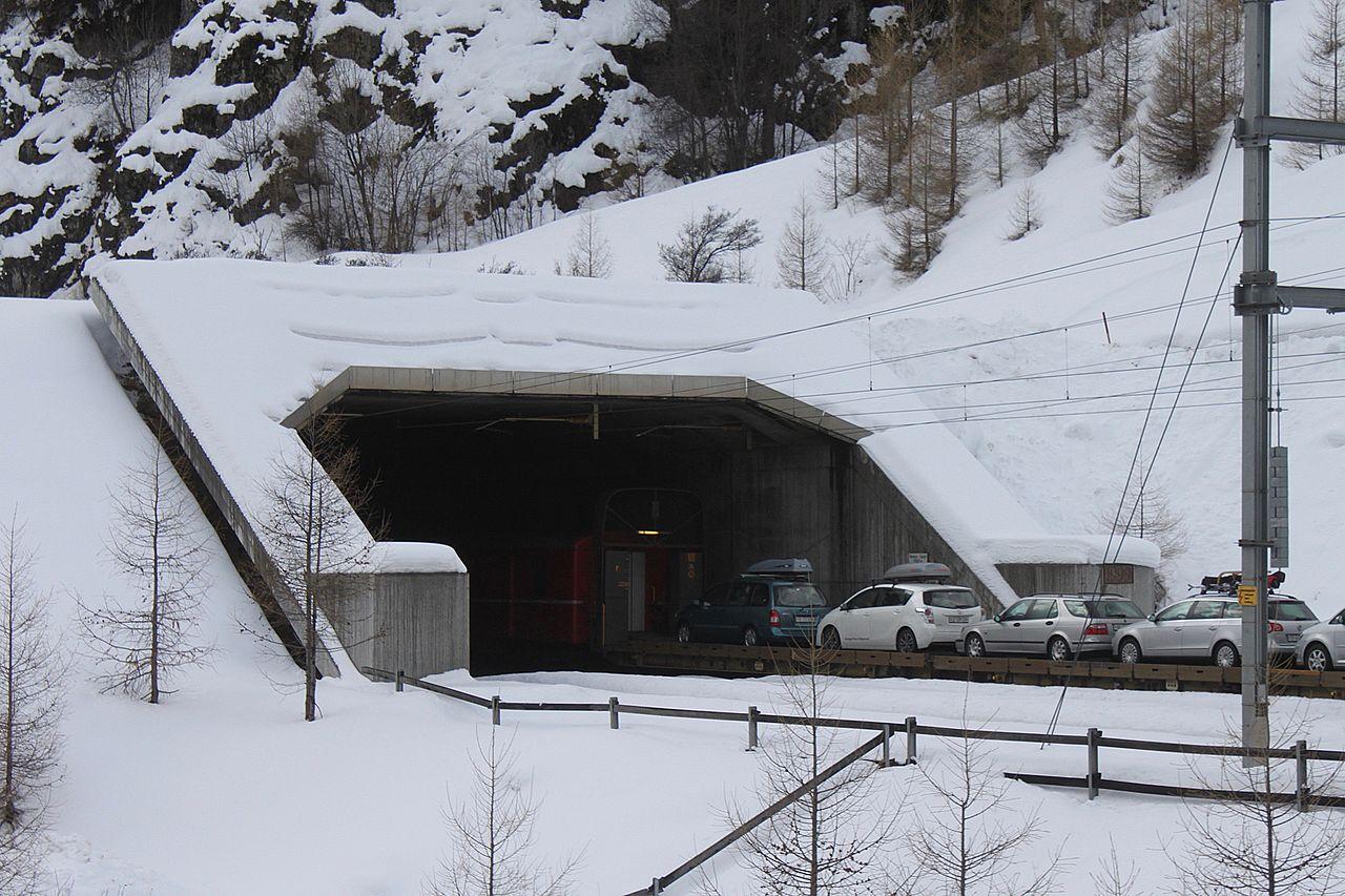 Tunel de Vereina en la estación de Sagliains